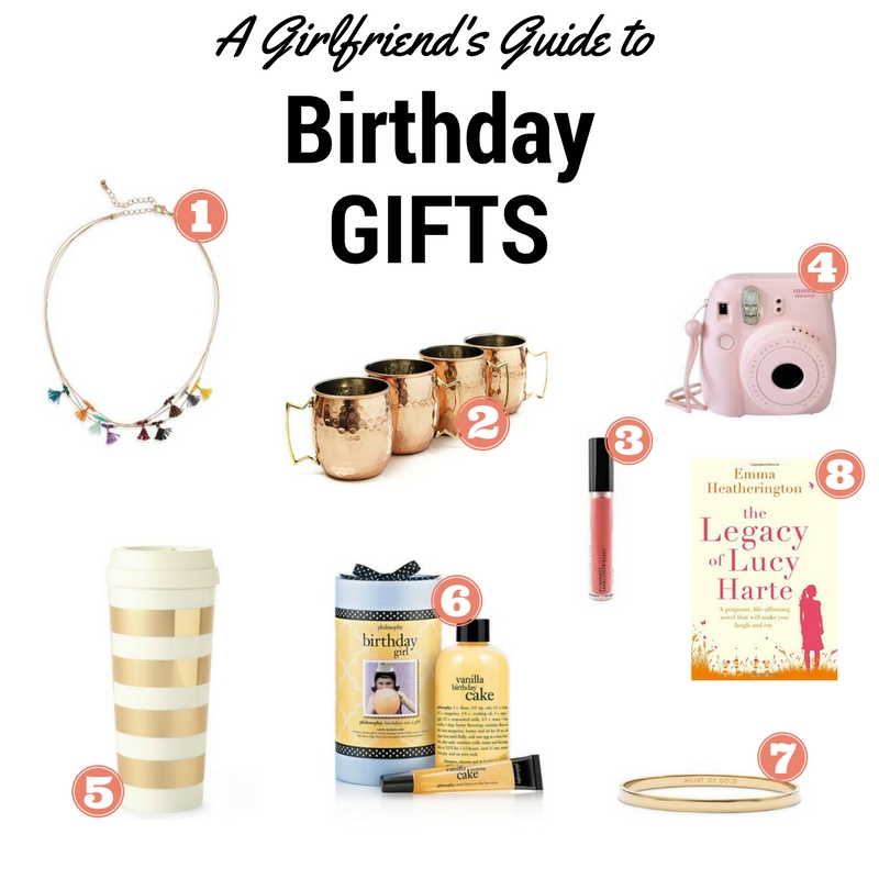a girlfriend's guide to birthday gifts